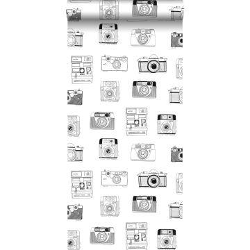 tapet polaroidkameror svart och vitt från ESTA home
