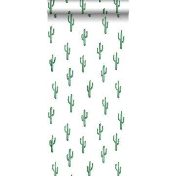 tapet liten ökenkaktus smaragdgrönt från ESTA home