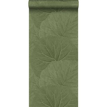 tapet stora blad gråaktigt olivgrönt från ESTA home