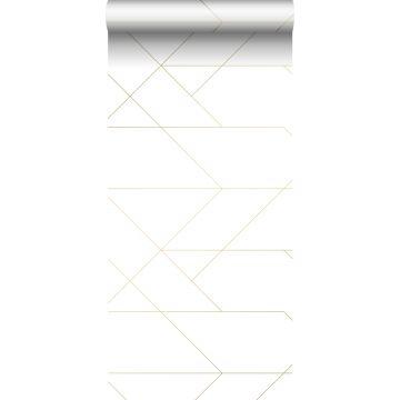 tapet grafiska linjer vitt och guld från ESTA home