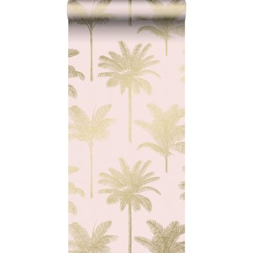 tapet palmer milt rosa och guld från ESTA home