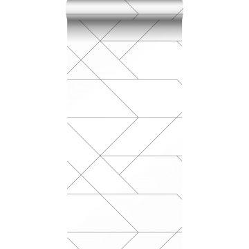 tapet grafiska linjer svart och vitt från ESTA home
