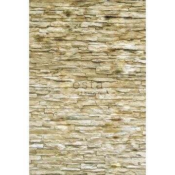 fototapet modern tegelvägg beige från ESTA home