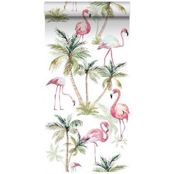 tapet XXL flamingos rosa från ESTA home