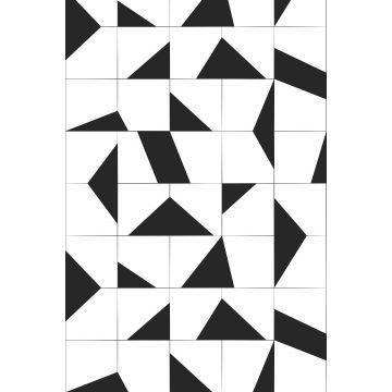 fototapet motiv med kakelplattor svart och vitt från ESTA home