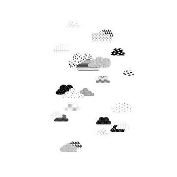 fototapet moln svart och vitt från ESTA home