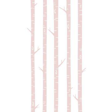 fototapet björkstammar milt rosa från ESTA home