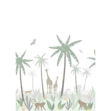 fototapet djungeldjur grönt, grått och brunt från ESTA home
