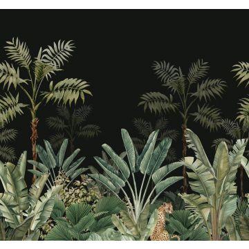 fototapet djungel svart och grågrönt från ESTA home