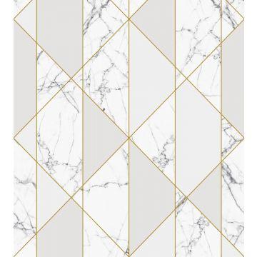 fototapet marmor svart och vitt, grått och guld från ESTA home