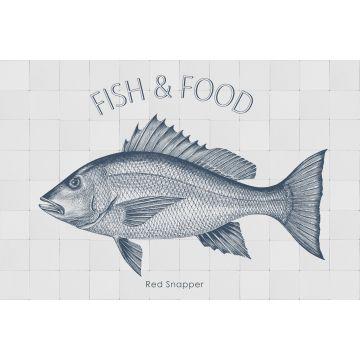 wallsticker fisk blått från ESTA home
