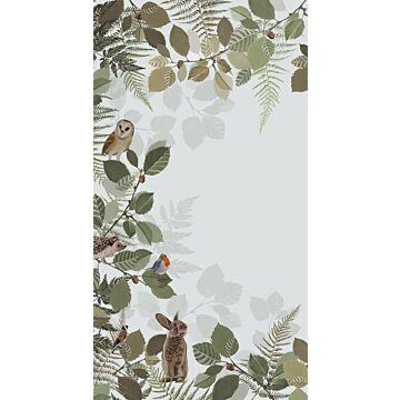fototapet skogens djur grönt och brunt från ESTA home