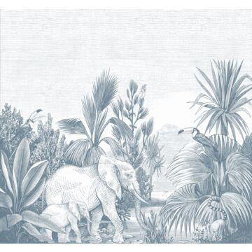 fototapet djungel blått från ESTA home