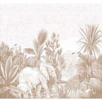 fototapet djungel terrakottaröd från ESTA home