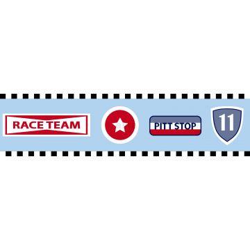 tapetbård racerteam-emblem himmelsblått från ESTA home