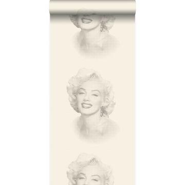 tapet Marilyn Monroe vitt och grått från Origin