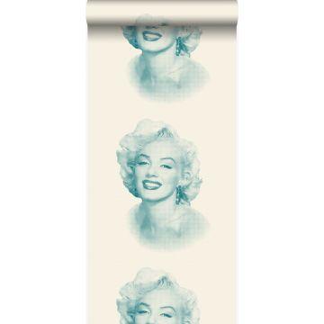 tapet Marilyn Monroe vitt och turkost från Origin