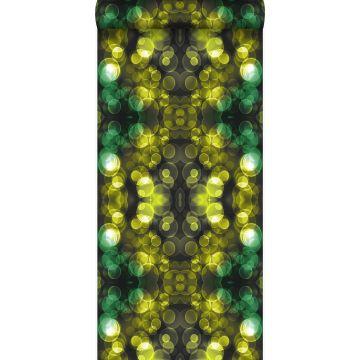 tapet kalejdoskop gul och grönt från Origin