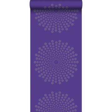 tapet grafisk form lila från Origin