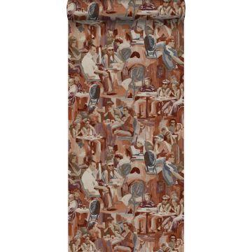 tapet figurativa mönster rostbrunt från Origin