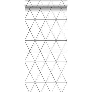 tapet grafiska trianglar svart och vitt från Origin