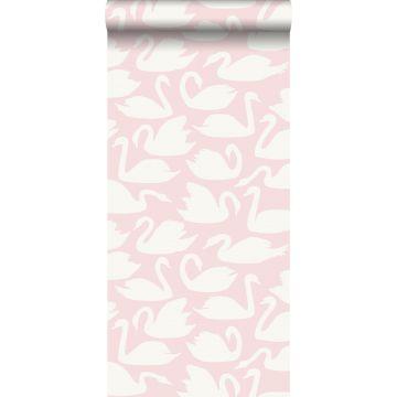 tapet svanar rosa och vitt från Origin