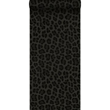tapet leopardskinn mörkgrått och svart från Origin