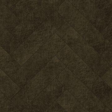 selvklæbende fliser øko-læder fiskbensmönster mörkbrunt från Origin